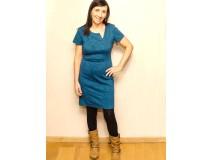 Martini jurk met embossed tricot