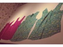 Workshop blouse: stoffen gekozen, patronen geknipt.