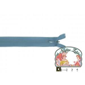 Blinde rits 22cm blauw