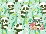 Panda rama mint cotton