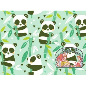 Panda rama mint cotton