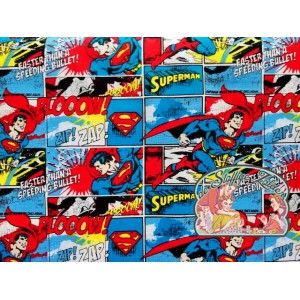 Superman comic cotton