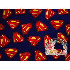 Superman logo navy cotton
