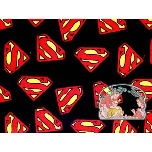 Superman logo black cotton