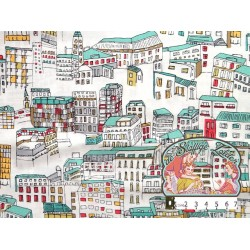 Street Life cotton by Jessica Hogarth