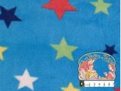 Blauwe fleece met sterren