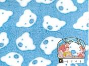 Blauwe fleece met witte beren