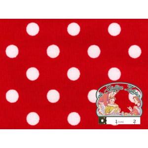 Rood met witte polka dots