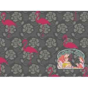 Flamingo Lace grijs/roze