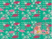 Flamingo Sproutgreen/pinkred