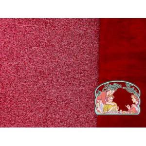 Rood melange gebreid met coral fleece