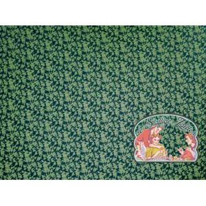 Polly flower green petrol brushed jogging
