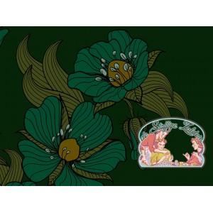 Mies&Moos retro flowers green brushed jogging