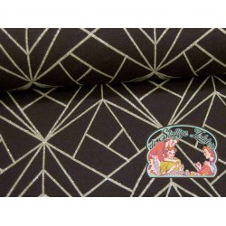 Mies&Moos art deco antraciet glitter tricot
