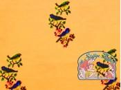 Mies&Moos vogeltjes borduur oker tricot