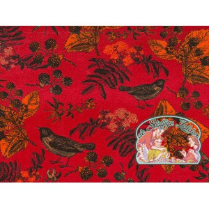 Mies&Moos autumn birds red velours