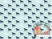 Derby horses aqua