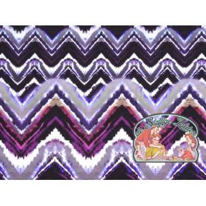 Kreta zigzag paars badpakstof