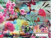 Bloemen en vlinderprint
