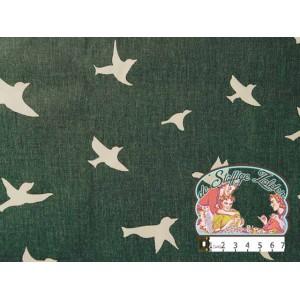 Vogels grijs canvas