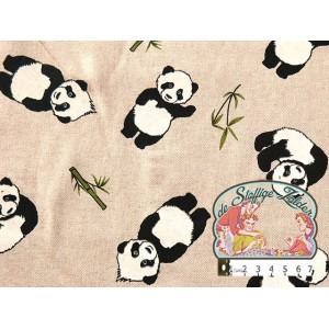 Panda linnenlook canvas