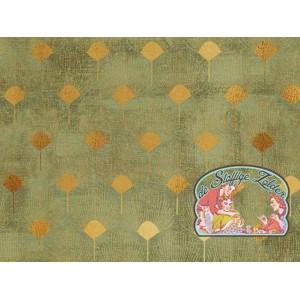 Kalle okergoud pluim olijfgroen canvas