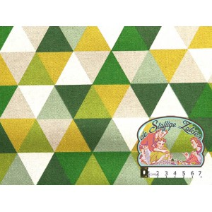 Green triangles canvas