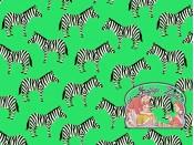 Little Explorers mint zebra cotton
