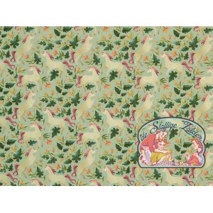 Unicorns garden mint cotton