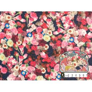 Maja denimlook roos