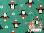 Pinguïns sweater munt
