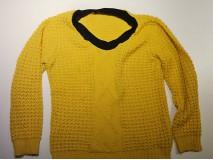Gebreide trui een col geven