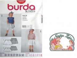 patroon Burda 9492 kids rokje
