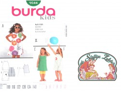 patroon Burda 9544 meisjeskleedje