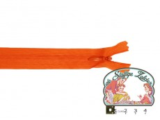 Blinde rits 22cm oranje