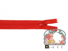 Blinde rits 22cm rood