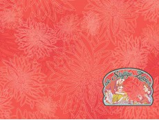 Floral Elements coral cotton