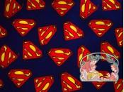Superman logo navy cotton