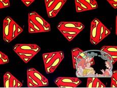 Superman logo black cotton