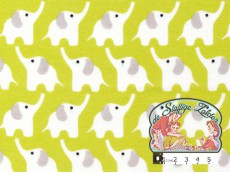 Elephants citron flannel