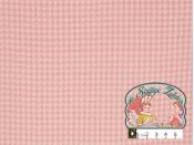 Pied de poule roze gewafeld