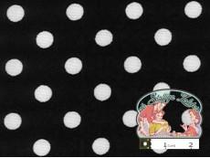 Zwart met witte polka dots