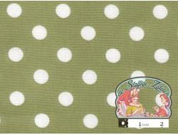 Vintage groen met witte polka dots