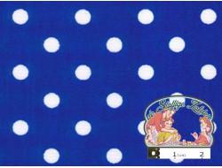 Blauw met witte polka dots