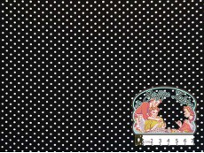 Zwart met witte polka dotjes