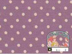Vintage paars met witte polka dotjes