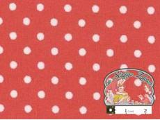 Vintage rood met witte polka dotjes