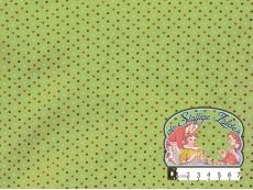 Vintage groen katoen met gekleurde dotjes