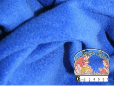 Effen blauwe fleece