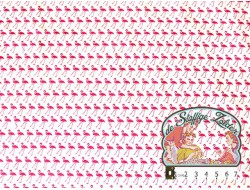 Little flamingo white/pink cotton